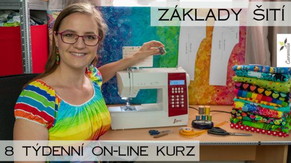 Základy šití – on-line kurz šití s Caramillou – jaro 2021