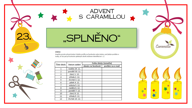 Advent – den dvacátý třetí