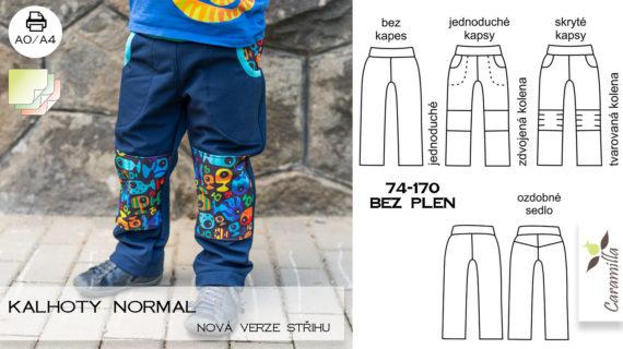 Nová verze střihu na nejen softshellové kalhoty!